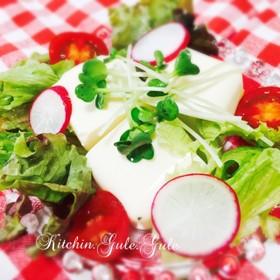野菜たっぷり♪冷ややっこ〈豆腐サラダ〉