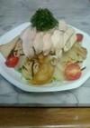 蒸し鶏とセロリとエリンギの冷製パスタ