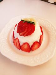 離乳食♡バースデーケーキの写真