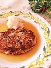 豆腐野菜ひじきハンバーグ(^O^)肉なしの写真