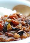 茄子とトマトのひき肉カレー