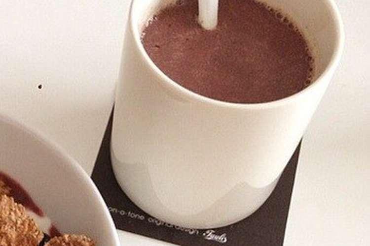 チョコレート ホット 「ホットチョコレート」と「ココア」の違いについて、考える。