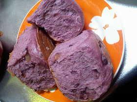 炊飯器de紫芋の甘納豆入りのパン