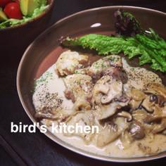 鶏のソテー~アンチョビクリームソース~
