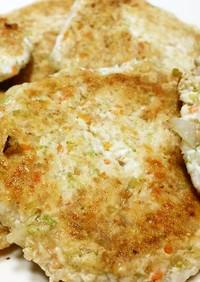 フワフワ鶏肉豆腐ハンバーグwith野菜