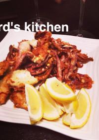 いかと白身魚のから揚げ~クミン風味~
