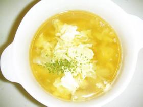 超簡単キャベツと卵のコンソメスープ