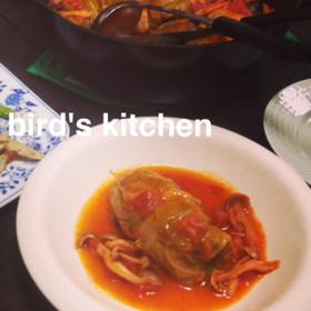 ロールキャベツのトマト煮込み