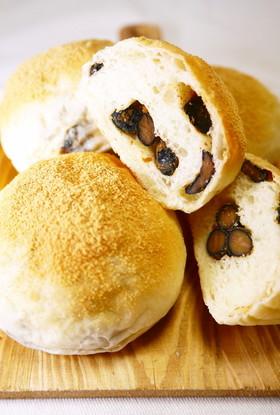 【お家で菓子パン作り】黒豆きなこパン