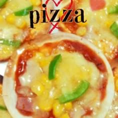 超簡単!!餃子の皮で、pizza★