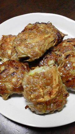 豚ひき肉とごぼうの和風ハンバーグ