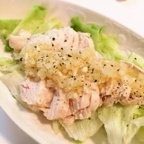 レモン塩ドレッシング(鶏むね肉の蒸し鶏)