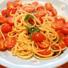 簡単!プチ贅沢ミニトマトパスタ