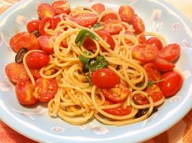 プチ贅沢ミニトマトパスタ