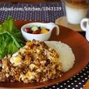 cafeごはん♪甘辛ミンチの卵とじ丼