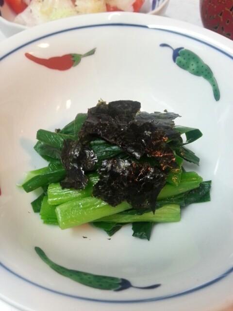 新顔野菜「行者菜」のお浸し