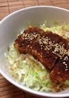 豆腐でヘルシー☆ソースかつ丼