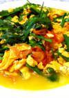 ニラ入りトマトと卵の炒めもの
