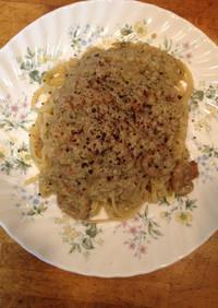カニの蟹味噌クリームスパゲッティ
