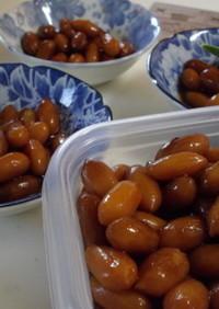 珍しい落花生の煮豆