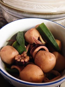 【甘々と稲妻】イカと里芋の煮物