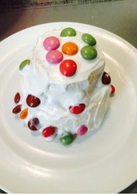 コストコ ホットケーキミックス二段ケーキ