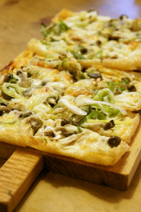油揚げの和風ピザ