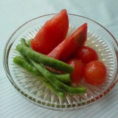 トマトとインゲンのさっぱり夏☆浸し