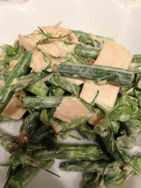 シオデの味噌マヨ和え