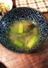 砂肝の茹で汁でスープ
