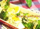 卵とブロッコリーの粒マスタード焼き