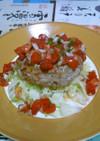 アボカドinハンバーグ☆トマトサルサ