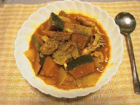 鶏肉とかぼちゃのカレー煮