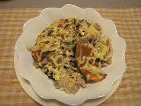 鶏肉とかぼちゃのマヨ焼き