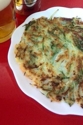 簡単♪節約♪チヂミ(水菜&新玉ねぎ)