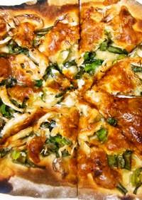 簡単和風ピザ醤油ソース