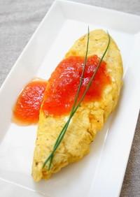 オムレツのトマトジャムソース
