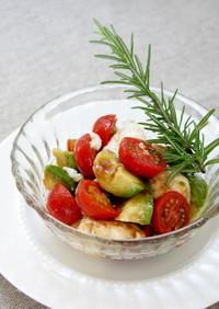 アボカド豆腐トマトのトマトジャムサラダ