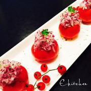 トマトでおしゃれにトロピカルの写真