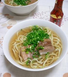 沖縄そば☆ラフテーとスープ