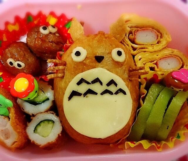 キャラ弁いなり寿司でトトロ~