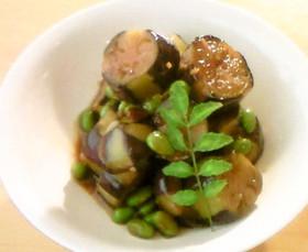 茄子と枝豆の乾炒
