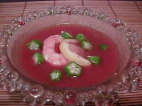 スイカのガスパチョ風スープ