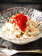 材料2つ!いちごジャムで。苺豆腐アイスの写真