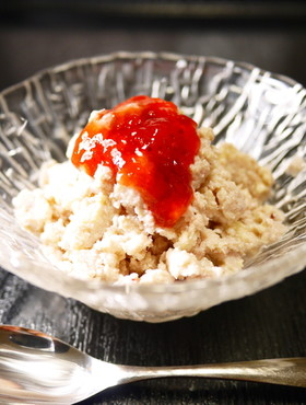 材料2つ!いちごジャムで。苺豆腐アイス