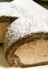 アイス風チョコロールケーキ
