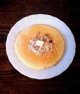 朝食に♪ミューズリーパンケーキ