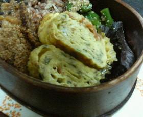 梅干と大葉の卵焼き