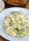 小松菜ときゅうりのツナたまごマヨサラダ