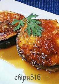 なす嫌い克服 米なすの肉詰ステーキ